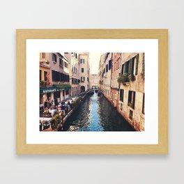 Just a canal Framed Art Print