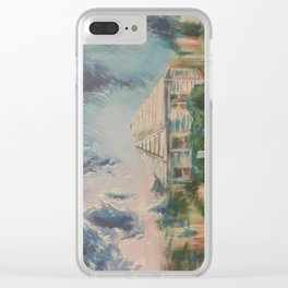 House with Picket Fence Clear iPhone Case