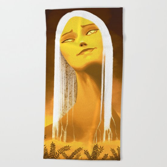 Luminescent Gold Beach Towel