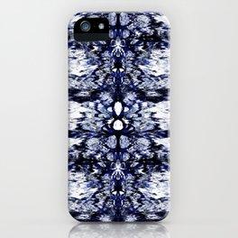 Modern Bohemian Indigo Blue Pattern iPhone Case