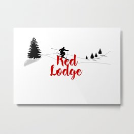 Ski at Red Lodge Metal Print