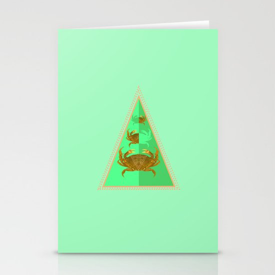 symetric crab Stationery Cards