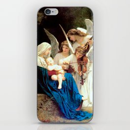 Madonna with Infant Jesus and Angels Virgin Mary Art iPhone Skin