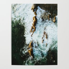 OCEAN - SEA - WATER - ROCKS - PHOTOGRAPHY Poster