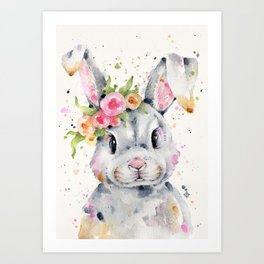Little Miss Bunny Art Print