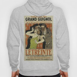 Le Étreinte, Theatre du Grand Guignol, vintage poster Hoody
