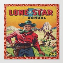 Vintage Western Movie Poster Print Lone Star Canvas Print