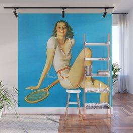 "Pinup by Rolf Armstrong ""Tennis Anyone?"" Wall Mural"