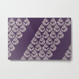 Purple drops Metal Print