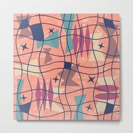 Mid Century Modern Abstract Pattern 777 Metal Print