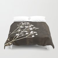 poetry Duvet Covers featuring Vintage poetry II by Viviana Gonzalez