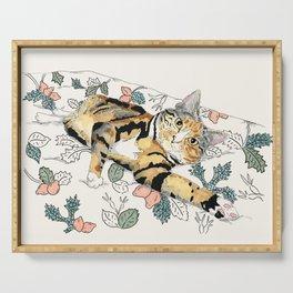 Tabby Cat Serving Tray