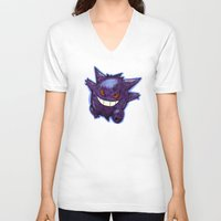 gengar V-neck T-shirts featuring Gengar by Trataka