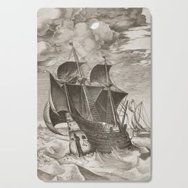 Vintage Ship Art III - Nautical Decor Cutting Board