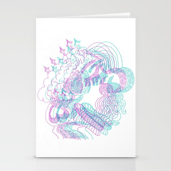 dreams in color  Stationery Cards