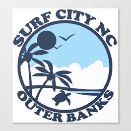 Surf City - North Carolina. Canvas Print