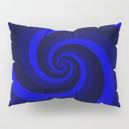 dark blue vortex Pillow Sham