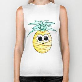 The Suprised Pineapple Biker Tank