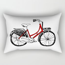 Love to ride - Dutch bicycle Rectangular Pillow