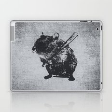 Angry street art mouse / hamster (baseball edit) Laptop & iPad Skin