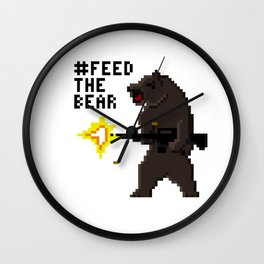 Bear Arms #2 Wall Clock
