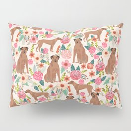 Rhodesian Ridgeback floral dog breed gifts pure breed must have dog pattern Pillow Sham