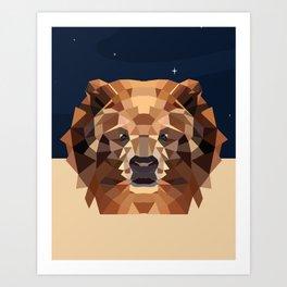 Bear under the blue sky Art Print