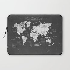 The World Map B/W Laptop Sleeve