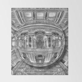 Ode To MC Escher Library of Congress Orb Throw Blanket