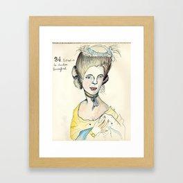 Portrait of the Duchess of Beauford Framed Art Print