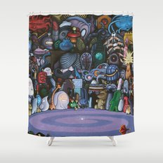 The God Particle Shower Curtain