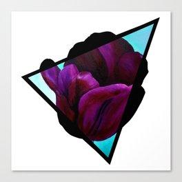 Dark Tulip Triangle Canvas Print