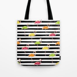 Citrus Flamingo Tote Bag