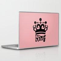 arya Laptop & iPad Skins featuring King Gajeel by Arya