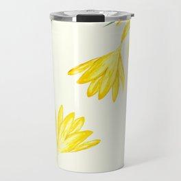 yellow botanical crocus watercolor Travel Mug