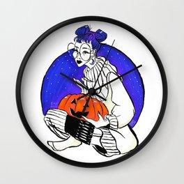 Pumpkins and Buns Wall Clock