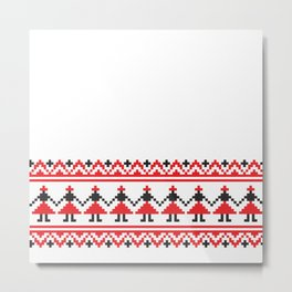 Ethnic Motif - Dance Metal Print