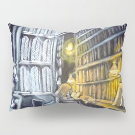 Hermione studying in the library Pillow Sham
