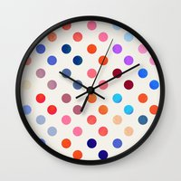 polka Wall Clocks featuring Polka Proton  by Picomodi