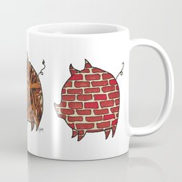 Three Little Pigs   @makemeunison Hand Drawn Art Coffee Mug