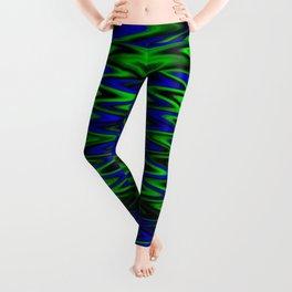 WAVY #1 (Blues & Greens) Leggings