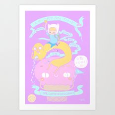ICE-CREAM TIME with finn and jake VS Mr.Lactose intolerance.  Art Print