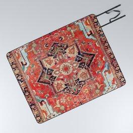 Heriz Azerbaijan Northwest Persian Rug Print Picnic Blanket