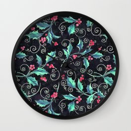 Colorful Christmas pattern Wall Clock