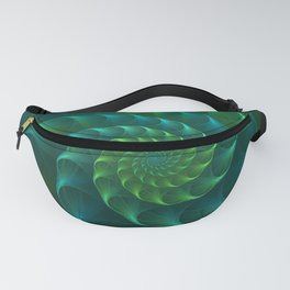 Blue And Green Nautilus Shell Fanny Pack