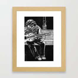 Guitarist Framed Art Print