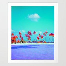 Synth Resort Art Print