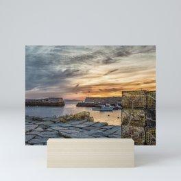 Lobster Trap sunset at lanes cove Mini Art Print
