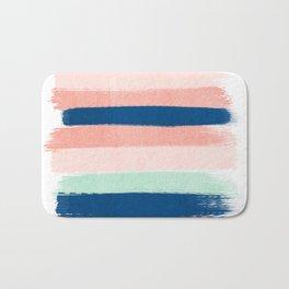 Painted stripes pattern minimal basic nursery decor home trends colorful art Bath Mat