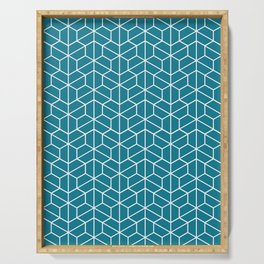 Blue hexagons Serving Tray
